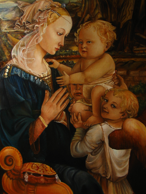 madonna con due angeli